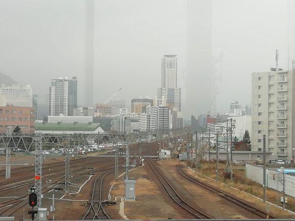 苗穂駅から札幌駅方面