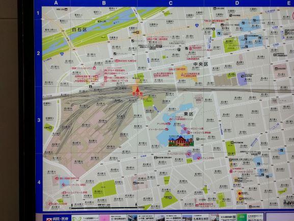 苗穂駅周辺の地図